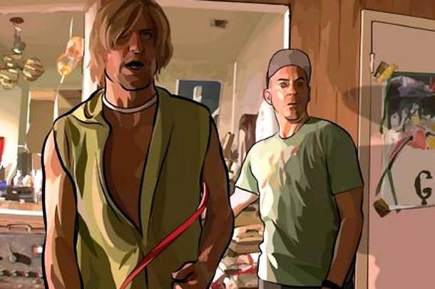 A Scanner Darkly : Photo Robert Downey Jr., Woody Harrelson